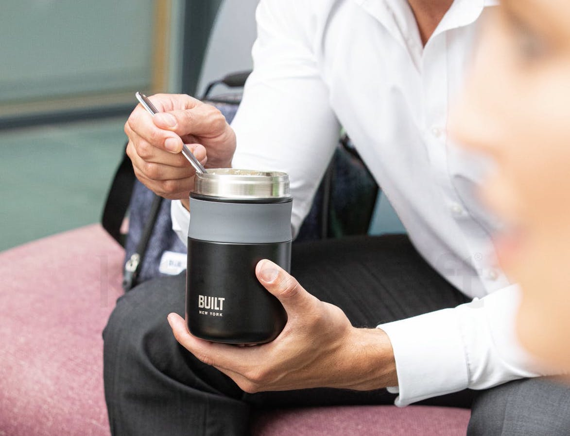 Water bottles and travel mugs